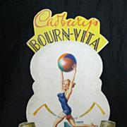 Old BOURN-VITA Counter Display Card Circa 1950's