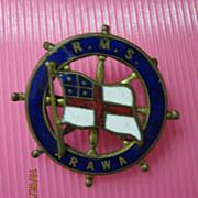 R.M.S. Arawa Souvenir Brooch / Badge