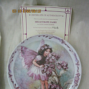 'Heliotrope Fairy' By Windsor Fine China - Limited Edition Plate 1998