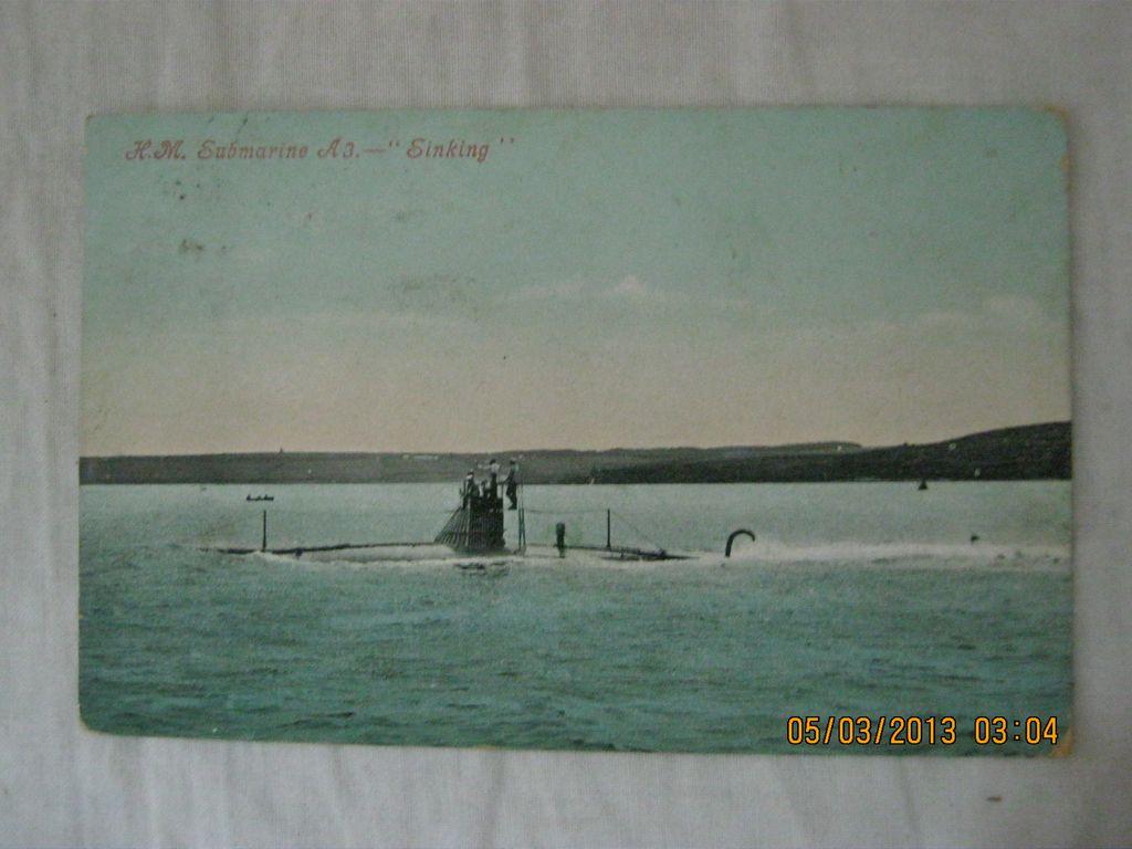 """H.M. Submarine A3. -  """"Sinking"""""""