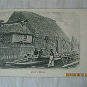 Fijian Chiefs House...A.M. Brodziak & co Card -Suva-Fiji