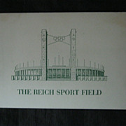 RARE 1937 Guide To The Reich Sport Field With Map