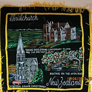 Retro New Zealand Tourism Cushion Cover Circa 1970's