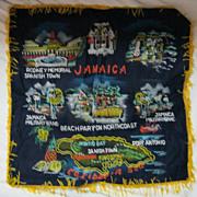 """RETRO 70's """"Jamaica"""" Tourist  Souvenir Cushion Cover"""