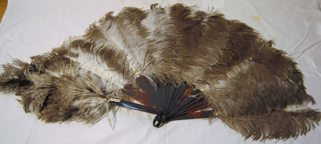 """""""Flappers"""" Ostrich Feather Fan Circa 1920's"""