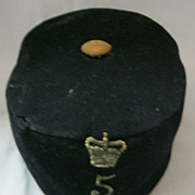 SOLD British Army Victorian Pill Box Cap -5th Northumberland Fusiliers