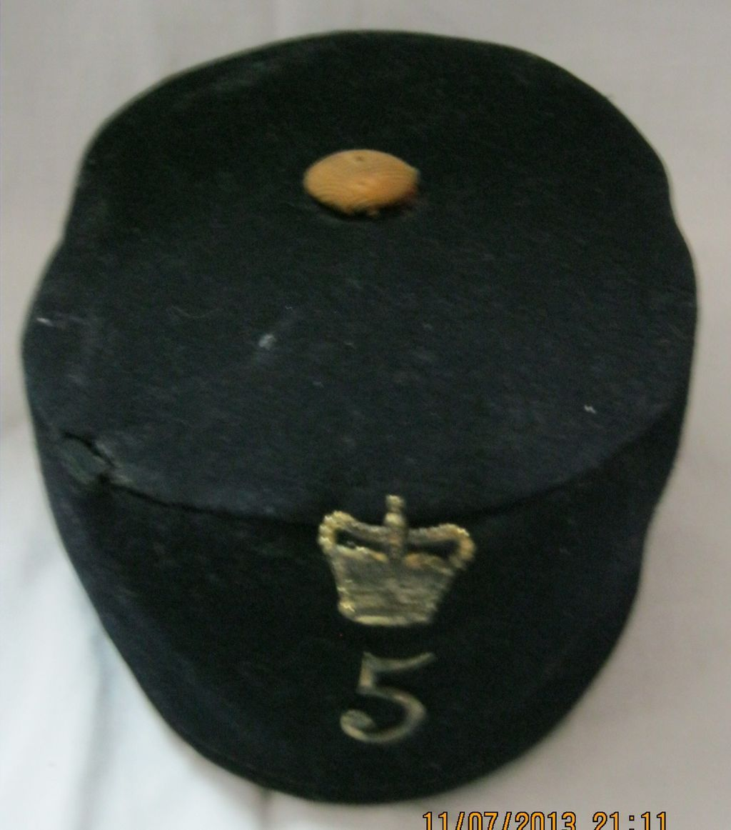 British Army Victorian Pill Box Cap -5th Northumberland Fusiliers