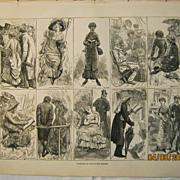Varieties of The Tourist Species - Illustrated London News  1883
