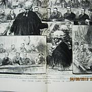 The Irish Land League Trials in Dublin - DPS Illustrated London News 1881