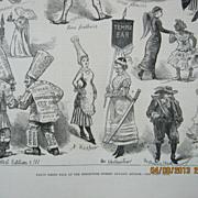Fancy Dress Ball at Brookwood Lunatic Asylum - Illustrated London News 1881
