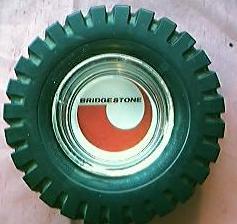 HUGE Bridgestone Advertising Tyre Ashtray