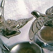 """Art Deco Set of  """"Swallows""""  Ashtrays"""