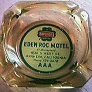 Eden Roc Motel Anaheim Advertising Ashtray