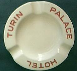 Palace Hotel Turin Advertising Ashtray