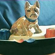 Japanese Dog Lustre Ware Ashtray