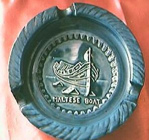 Maltese Souvenir Ashtray