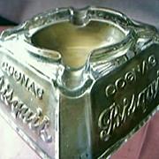 Cognac Bisquit Advertising Ashtray Circa 1920's