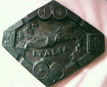 Old Italian  Metal Souvenir Ashtray