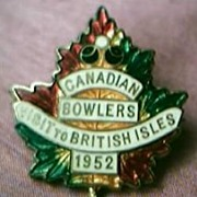 Canadian Bowls Team Badge 1952