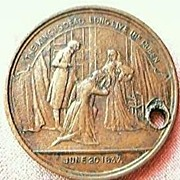 Antique Queen Victoria Medallion 1897