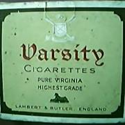 "Antique Cigarette Packet ""VARSITY"" 20's"