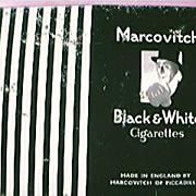 SALE Vintage TEAL AIRLINES  Black & White Cigarette Tin