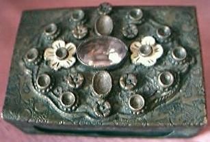 Vintage Ornate Match Box Holder Circa Early 1900's