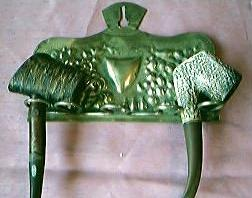 Victorian Art Nouveau Brass Pipe Rack