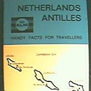 KLM Airlines Advertising Booklet for Netherlands Antilles