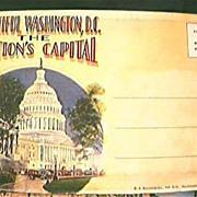 Vintage Washington DC  Souvenir Postcard Folder Circa 1920