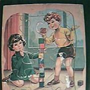 Vintage Children's Wooden Jigsaw Circa 1950