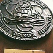 U.S.S. Bainbridge Historical Plaque 1978