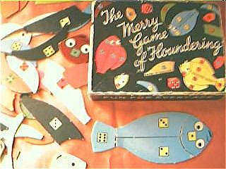 """Vintage Child's Game """"The Merry Game Of Floundering"""" Circa 1950's"""