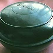 Vintage Faulding Brand Bakelite Shaving Creme  Container Circa 1930's-40's