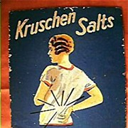 """Vintage Advertising Counter Card """"Krushen Salts"""" Circa 1940's"""