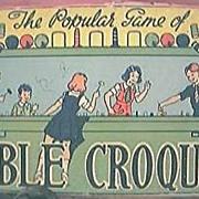"Vintage Children's Game "" Table Croquet"" Circa 1940's"