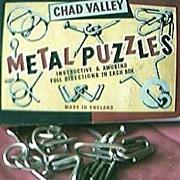 Vintage Chad Valley Metal Puzzles Circa 1950's