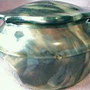 Lovely Mock Tortoiseshell Powder Bowl
