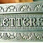 Victorian Art Nouveau Metal Letter Slot