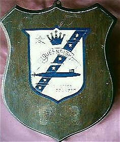 Vintage US Naval Plaque SSN Queenfish 651