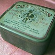 "Vintage Small ""Champion"" Tobacco Tin Circa Early 1900's"
