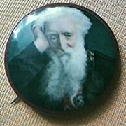 "Vintage ""William Booth"" Salvation Army Chromolithographic Badge Circa Early 1900's"