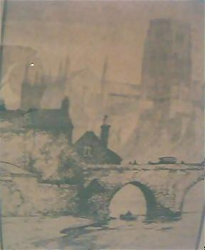 Genuine 1800's Pen & Ink Drawing of DURHAM Cathedral by Oswald Fletcher
