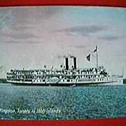 "Vintage Postcard Canadian Steamer ""KINGSTON"" Circa 1911"