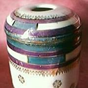Victorian Porcelain Souvenir Hair Tidy