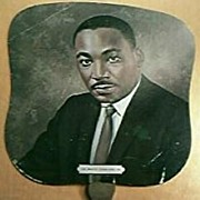 Vintage Martin Luther King, Negro Funeral Home Advertising Fan