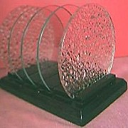 ART DECO Wood and Glass Toast Rack Circa 1930's-40's