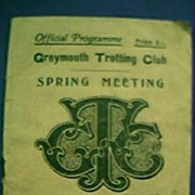 1940 Greymouth Trotting Club Spring Meeting Programme