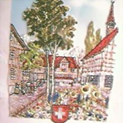 Vintage Tapestry of Zurich 1939