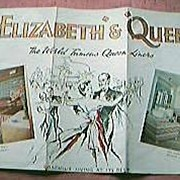 Old Travel Agents Brochure for The CUNARD LINERS Queen Mary & Queen Elizabeth